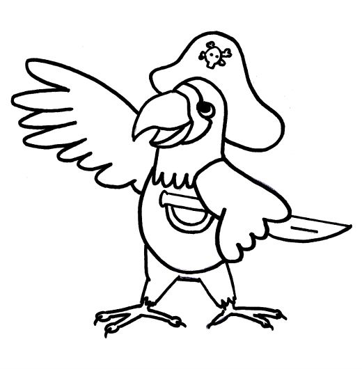 Parrot Coloring Pages Google Search Pirate Coloring Pages