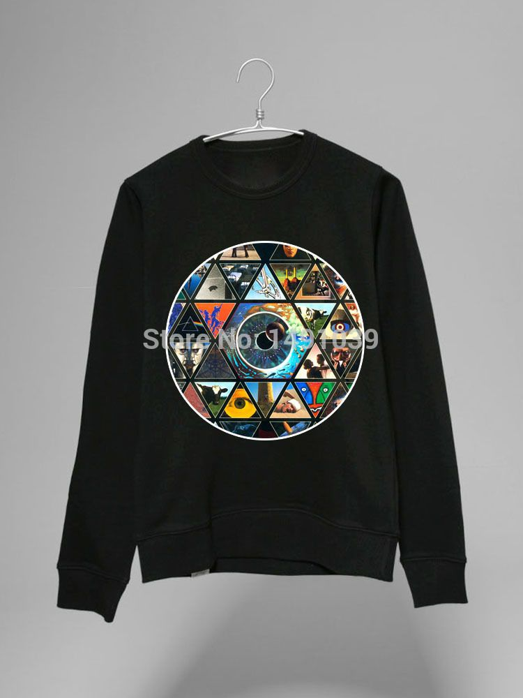 pink floyd the wall a great gig in the sky abulm covers collage pattern round neck stylish vintage fashion no cap hoodie