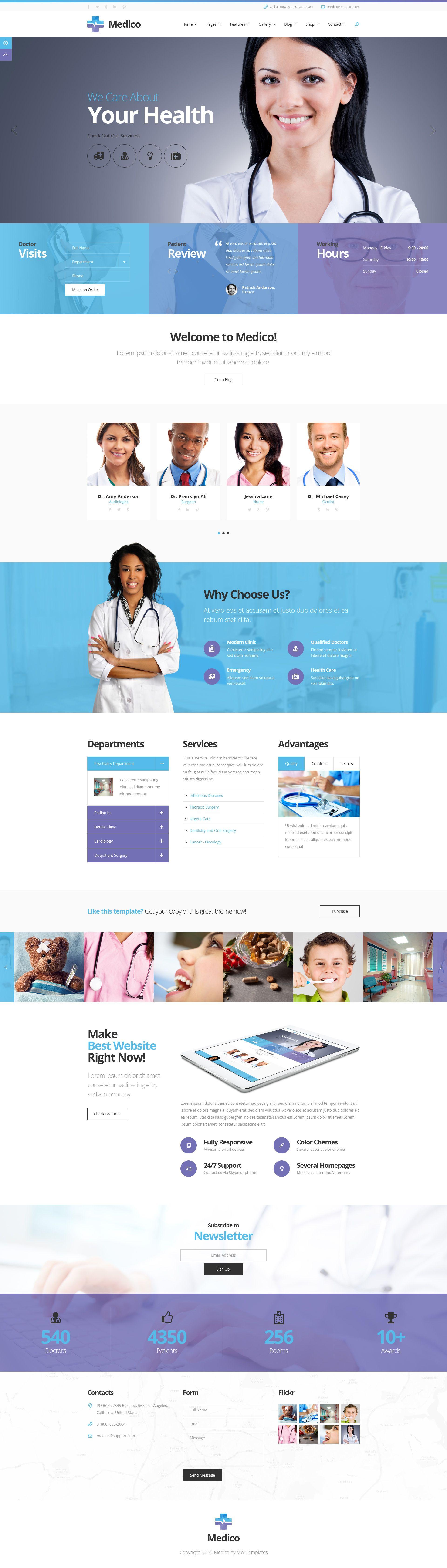 Medico - Medical & Veterinary PSD Template | Psd templates ...
