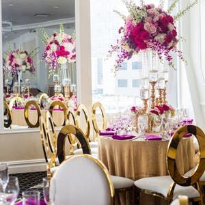 Elegant Affairs | Elegant Engagement Party at Waterside Restaurant & Catering in New York | PartySlate #dressesforengagementparty