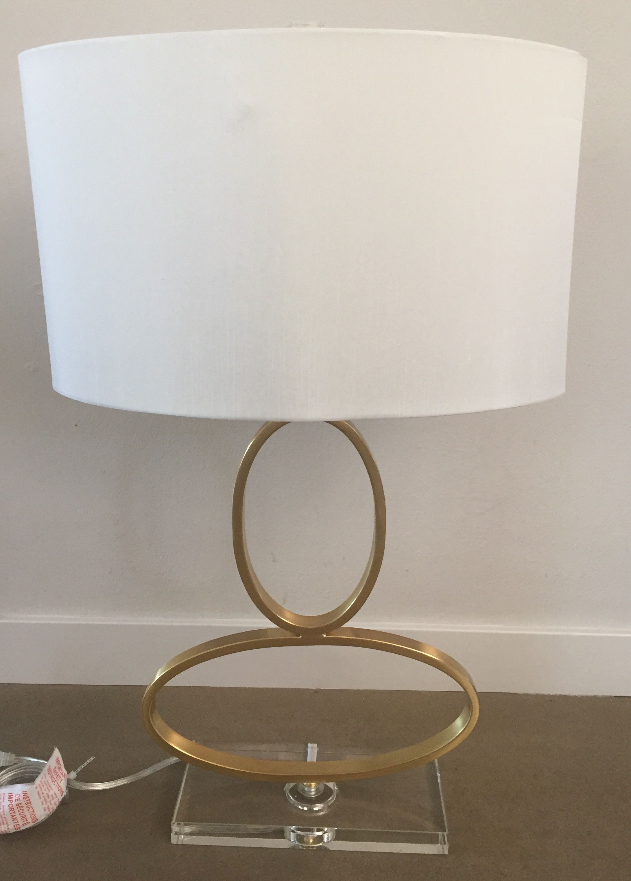 Drexel Heritage Gold Ovals Table Lamp