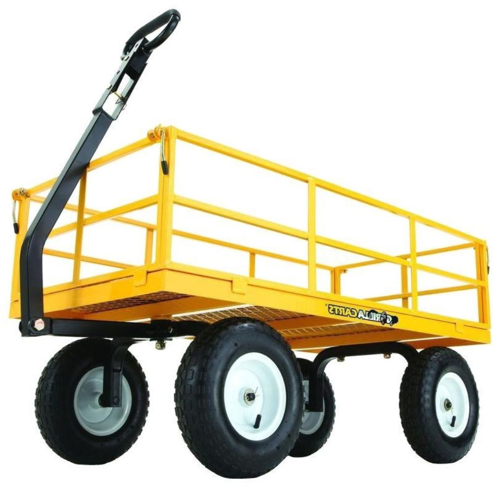 Gorilla Carts 1,200 Lbs. Heavy Duty Steel Utility Portable Cart With Wheels  NEW #GorillaCarts #Cart #Portable #Wheels