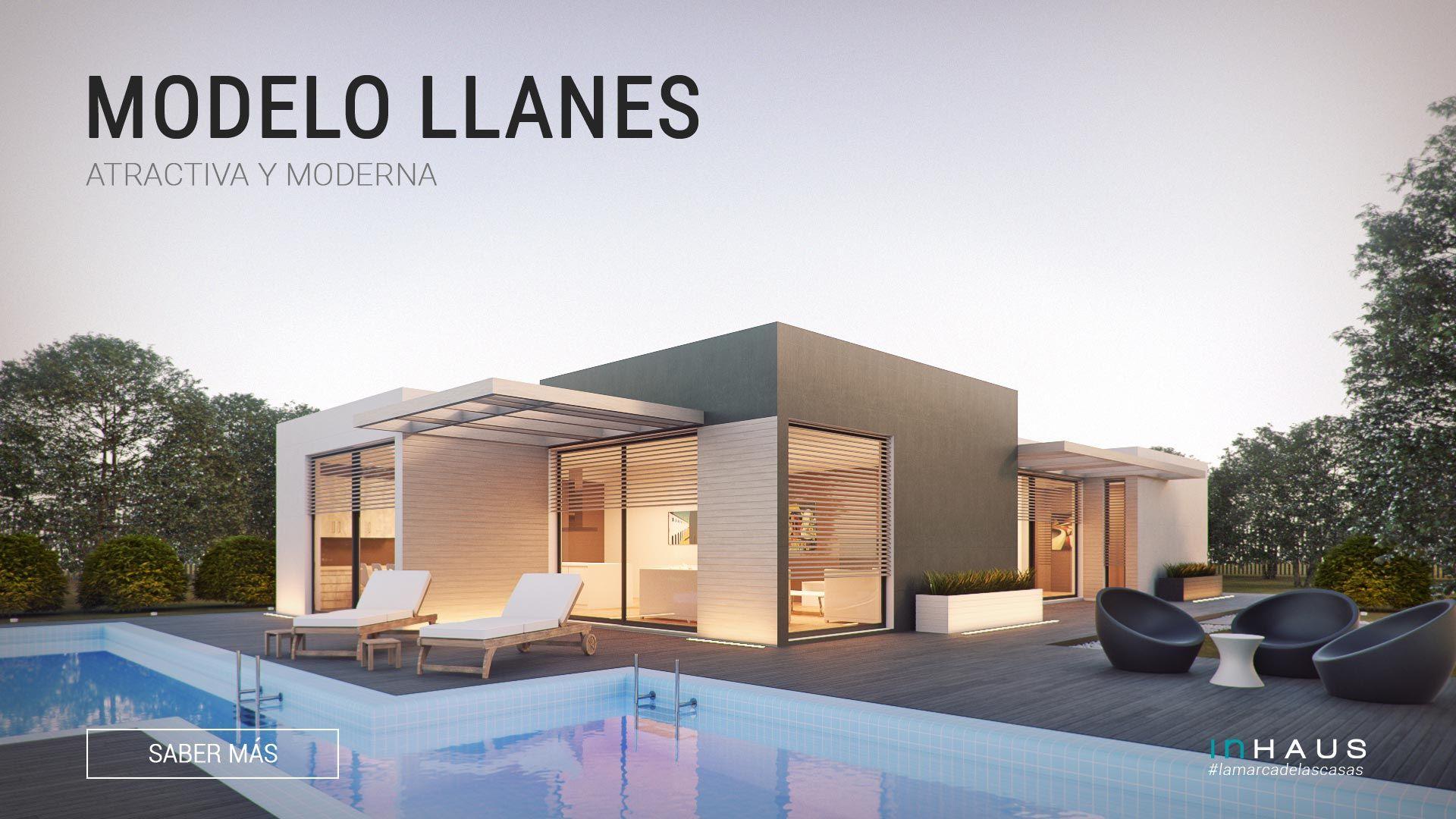 Espectacular modelo de casa prefabricada modular inhaus for Arquitectura de casas modernas de una planta