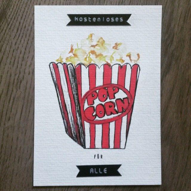 Gestern war internationaler Anti-Diät Tag  yesterday was international anti diet Day  #illustration #popcorn #onepostcardaday #nodiet #kostenlosespopcornfüralle #iliketodraw #freepopcornforall #internationalantidietday