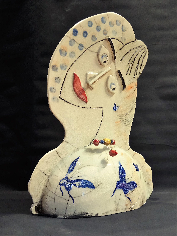 Printed tile, music decorative ceramic tile, raku pottery