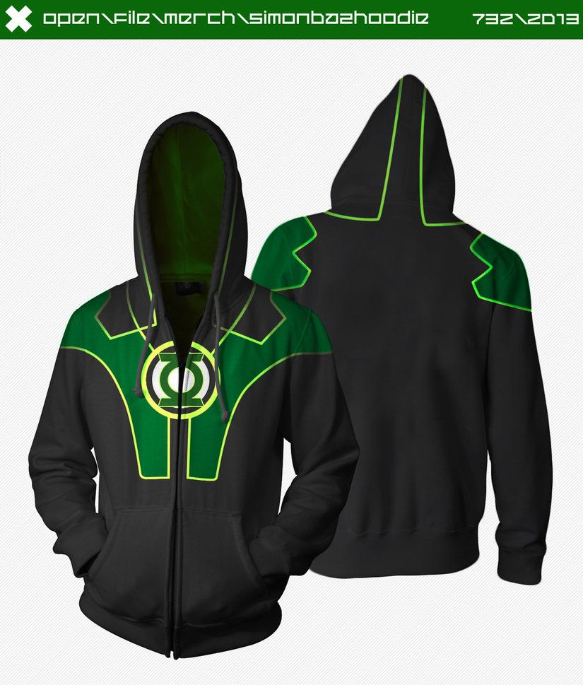 3aa4956ef Green Lantern Hoodie by ~seventhirtytwo on deviantART | Super stuff ...