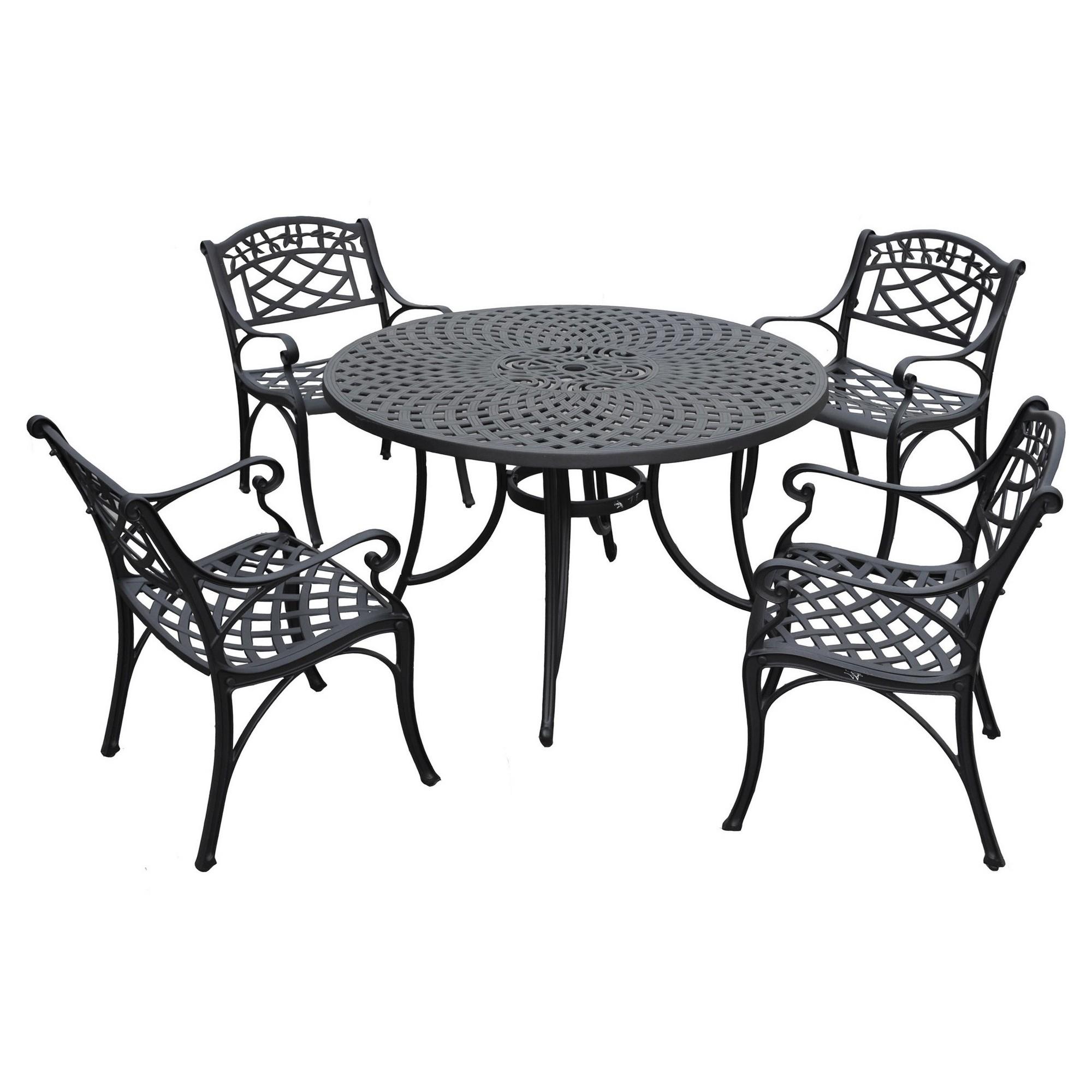 crosley sedona 46 five piece cast aluminum outdoor dining set black rh pinterest ca