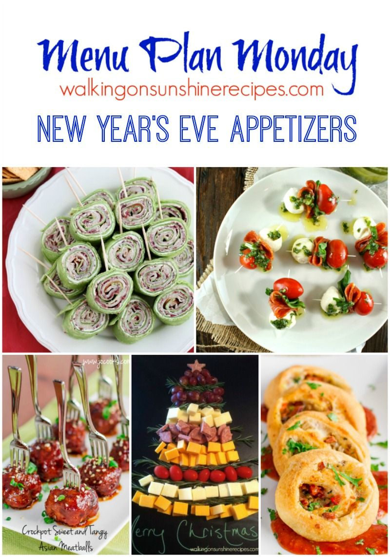 New Year S Eve Appetizers Menu Plan Monday Weekly Meal Plans