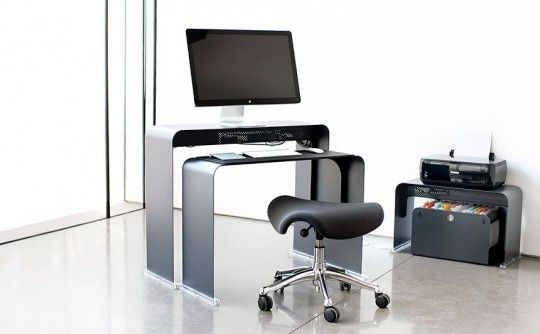 Onelessdesk bureau ultra fin en métal mobiliers pinterest bureaus