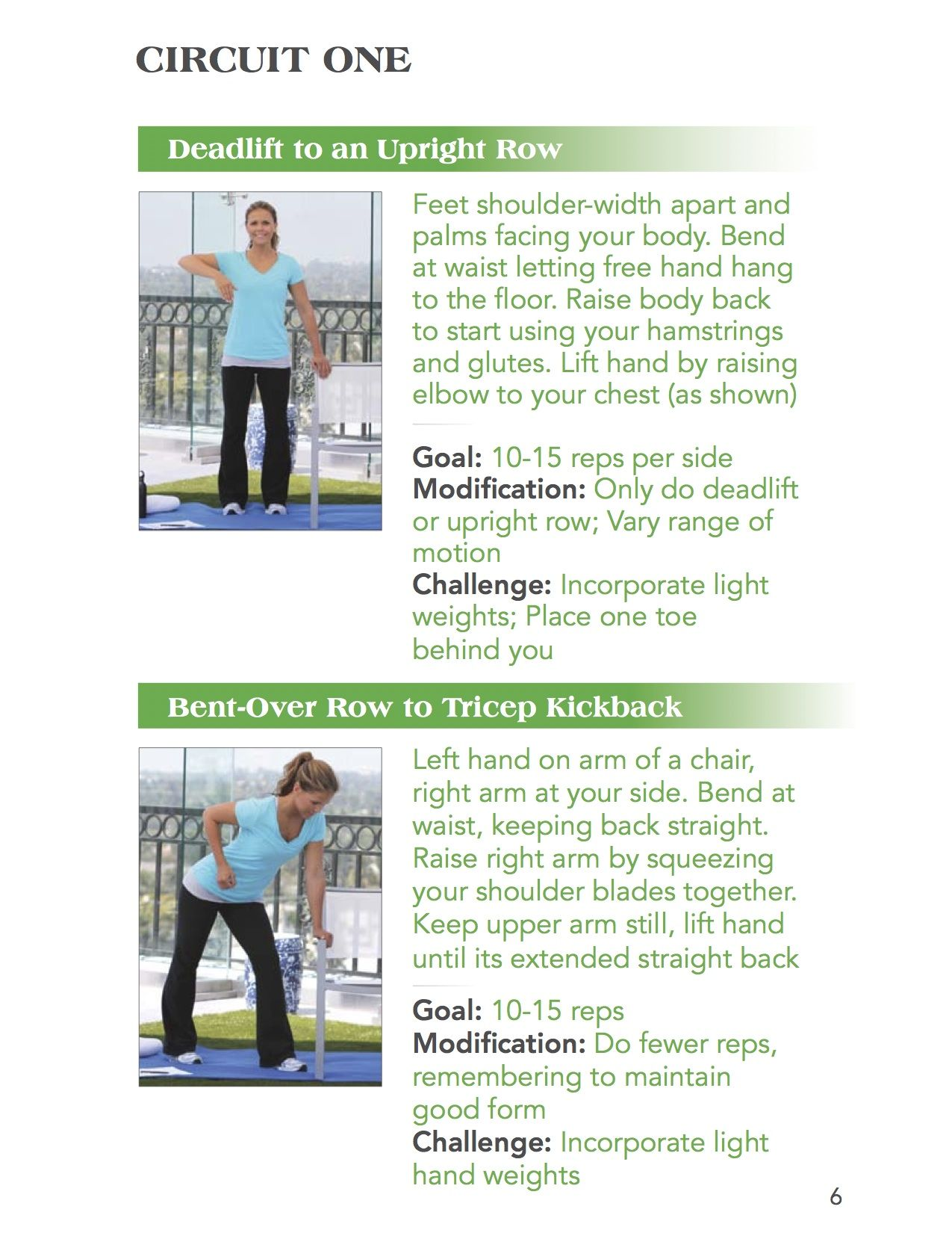 deadlift to an upright row and bent over row to tricep kickback rh pinterest com