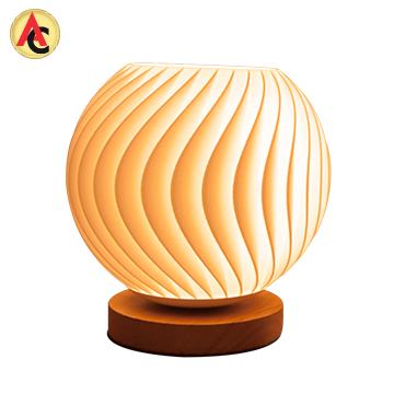 Led Table Lamp With 3d Printed Pla Shade Led Table Lamp Lamp Table Lamp