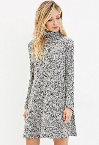 Marled Tunic Sweater | Forever 21 - $22.90 small Black/Olive ...