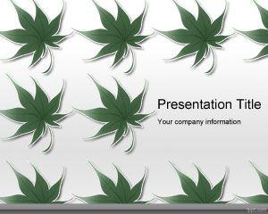 free sustainability powerpoint template slide design | green, Presentation templates