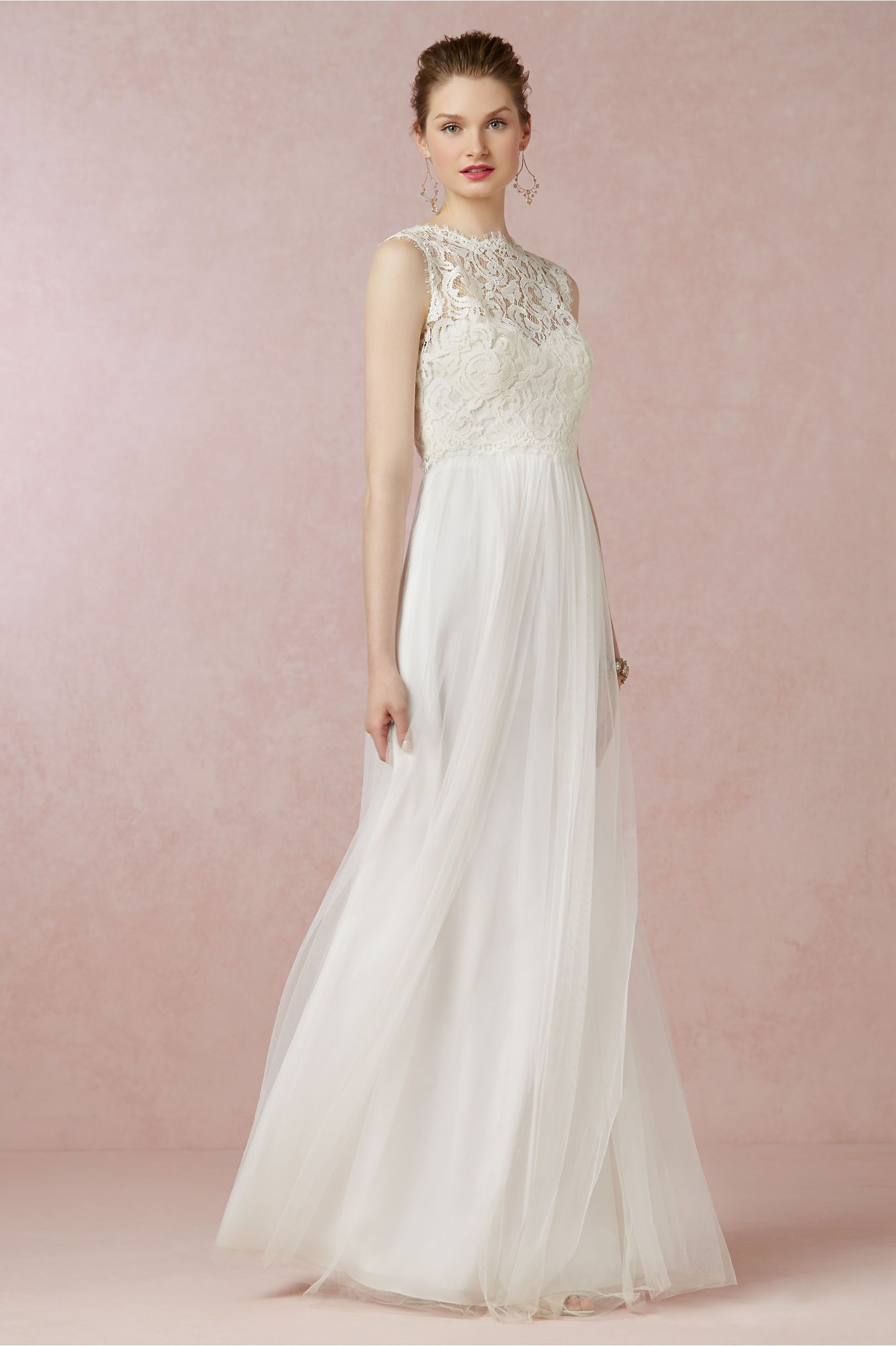 Annabelle Dress from BHLDN. Here it\'s shown with a topper. A little ...