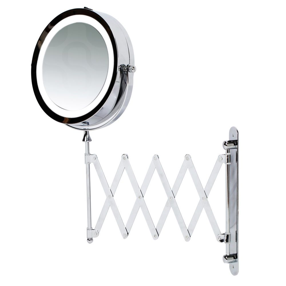 Kenley 7 bathroom extending wall mounted magnifying make up mirror kenley 7 bathroom extending wall mounted magnifying make up mirror w led light aloadofball Image collections