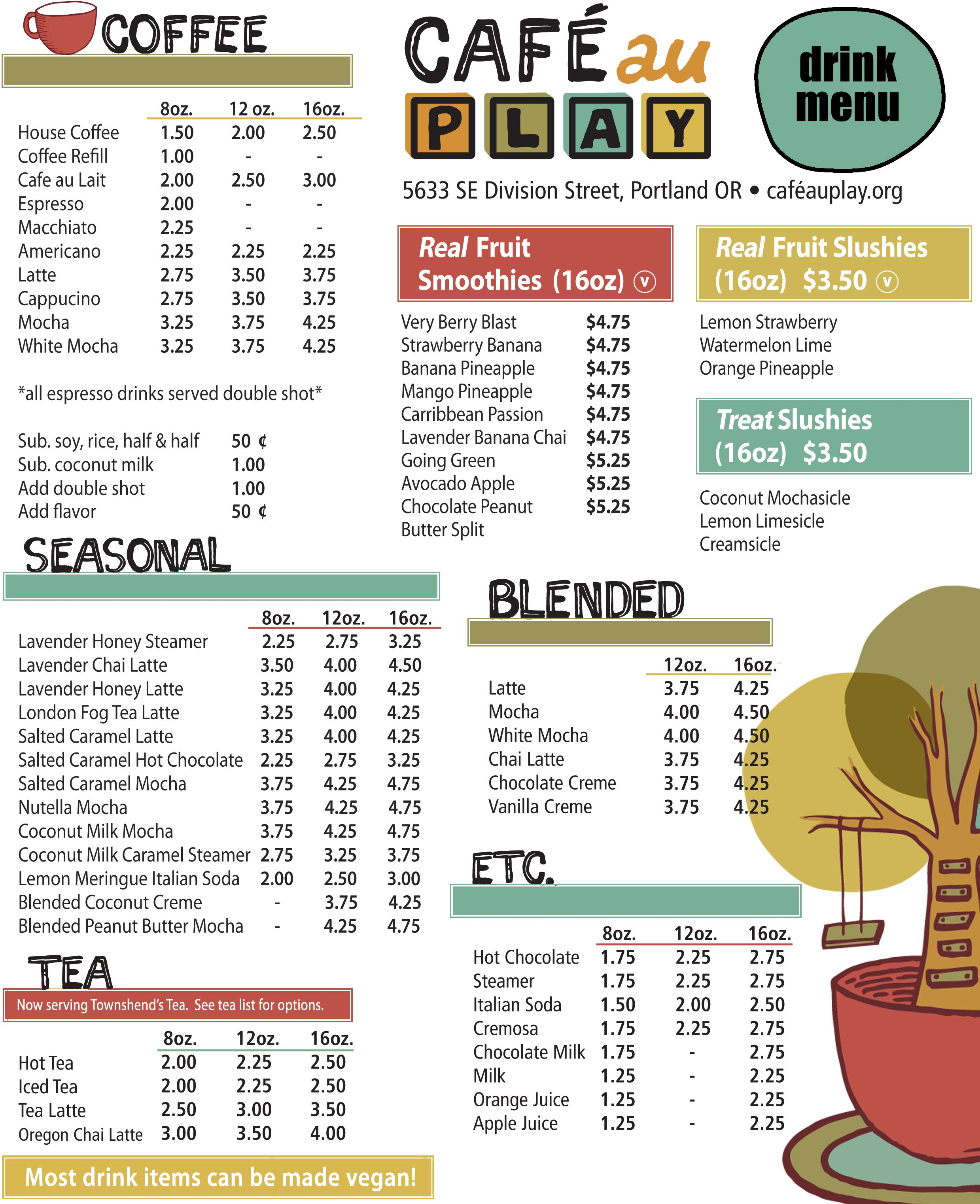 31 Awesome Cafe Menu Drinks Images