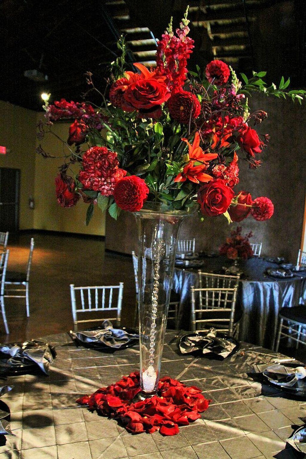fantastic ideas for red floral arrangement 32 church flowers rh pinterest co uk