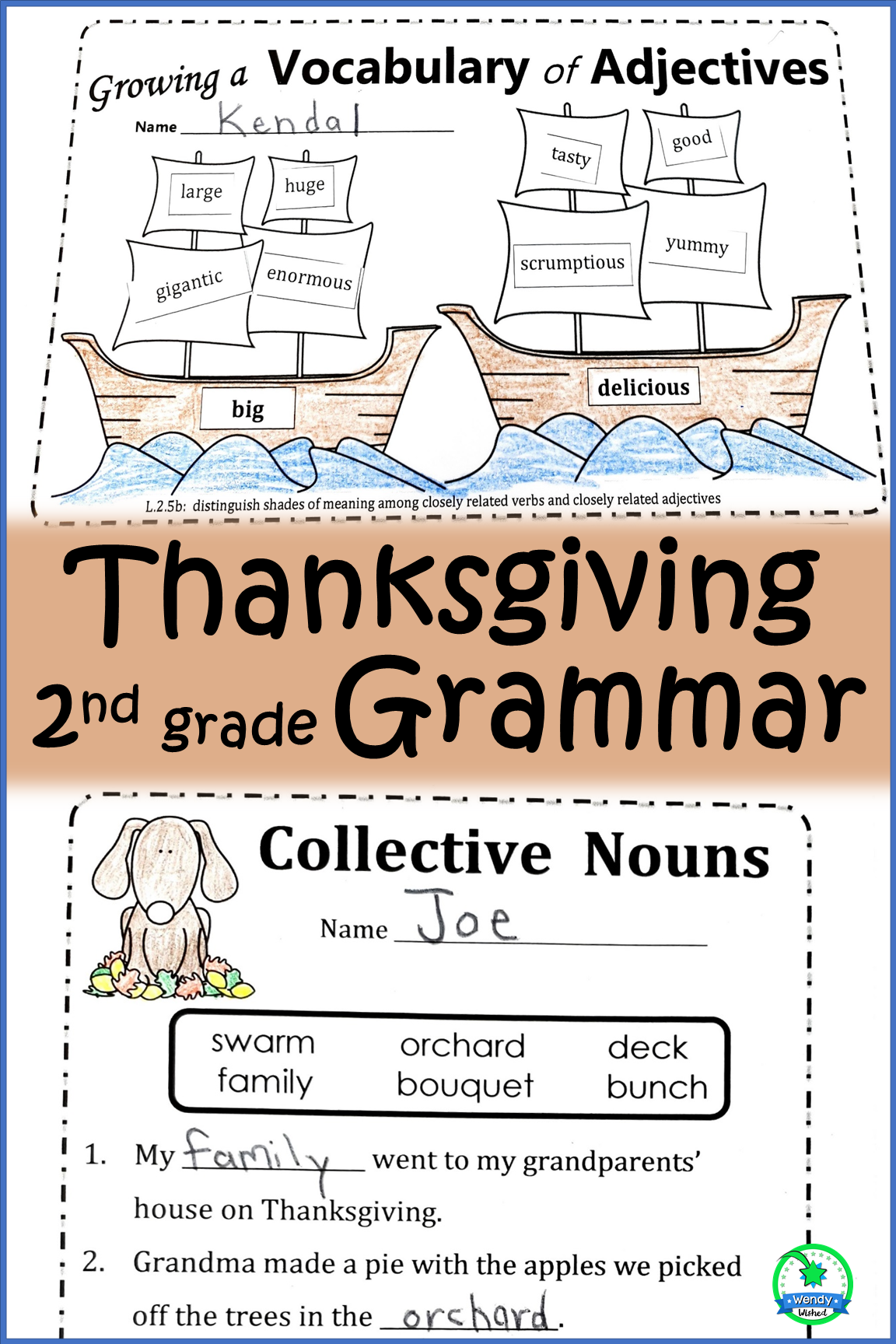 Thanksgiving Grammar Worksheets