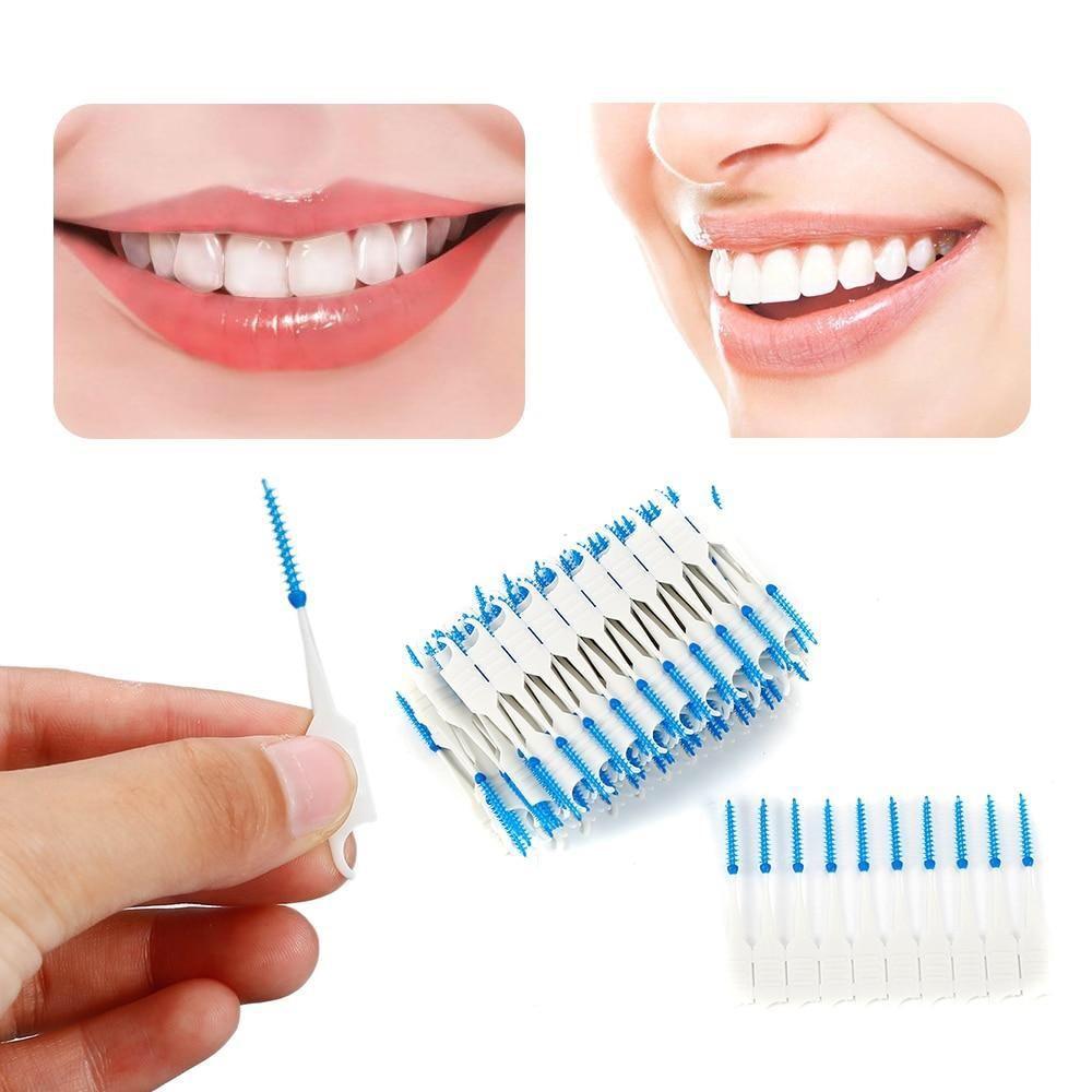 Oral Hygiene Dental Floss Soft Interdental Dual Toothpick