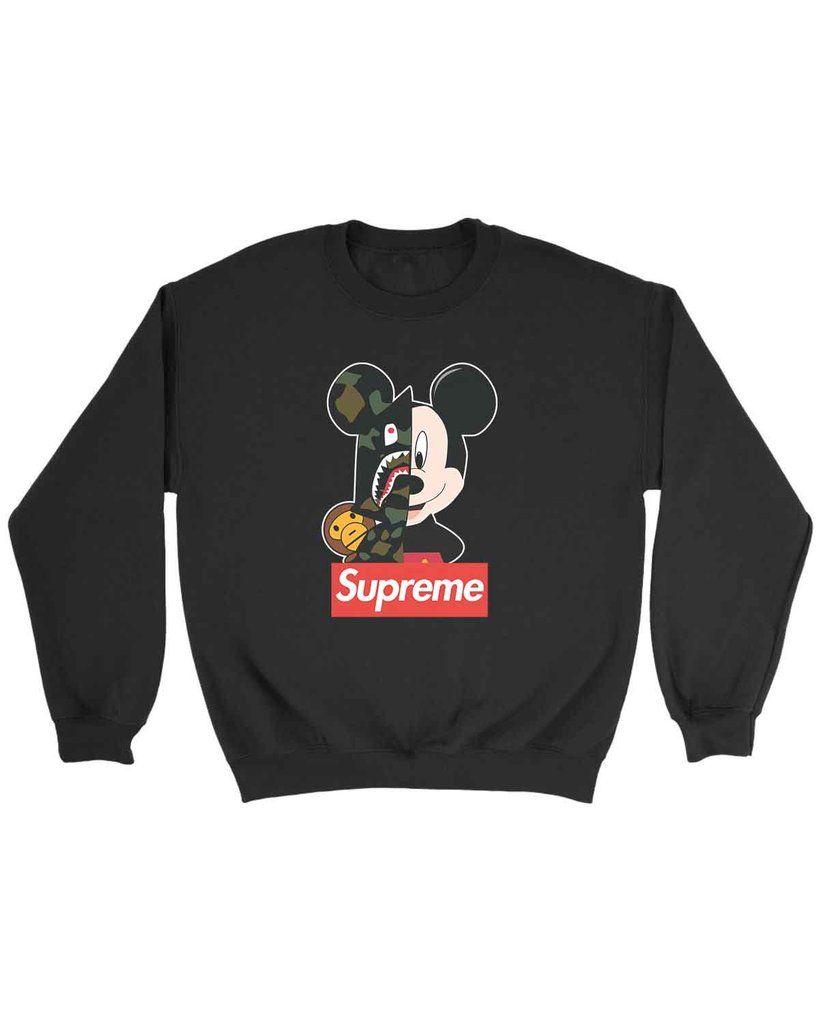 Mickey Mouse Supreme Sweatshirt Supreme Sweatshirt Sweatshirts Mickey Sweatshirt