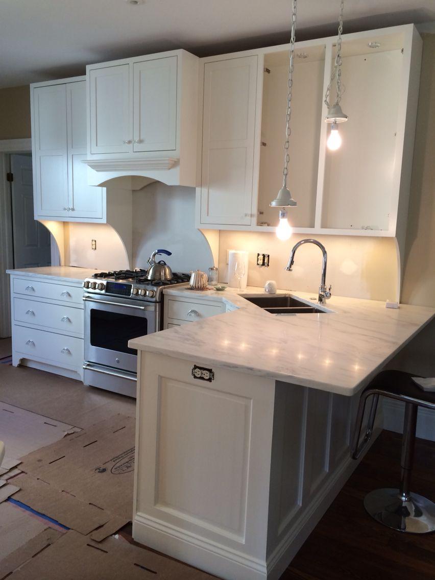 Peninsula With Overhang Kitchen Design Kitchen Remodel Corner Sink