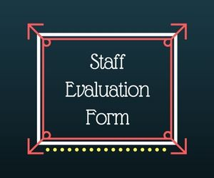 This Staff Evaluation Form Couples Likert Scale Assessment With