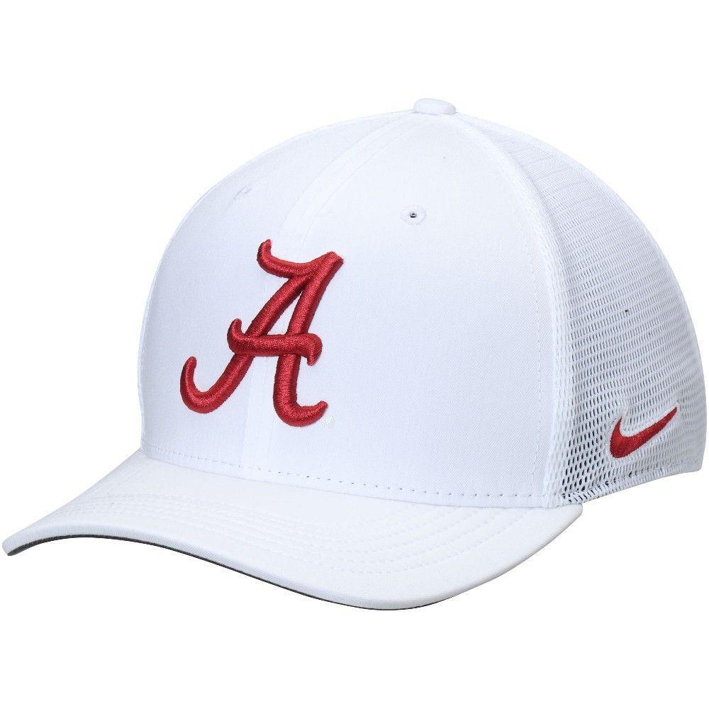 f282b7d5f6b Alabama Crimson Tide Nike AeroBill Classic 99 Mesh Back Performance Flex Hat  - White