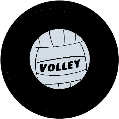 Customgrafixtirecoverstm Volleyball Spare Tire Cover With Security