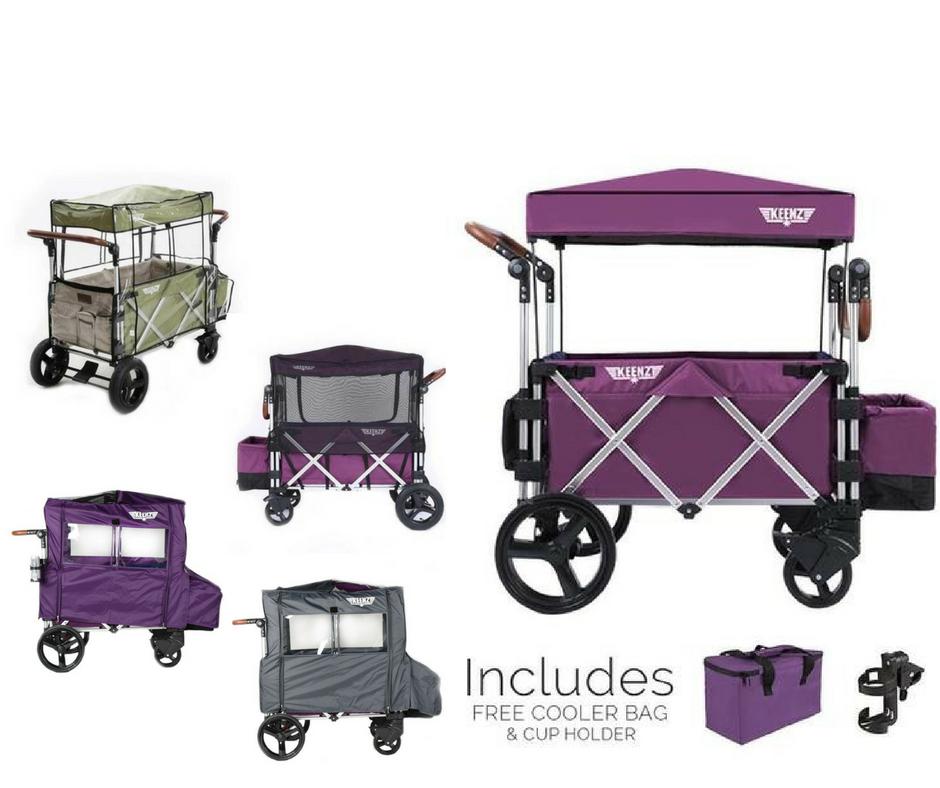 Keenz 7S Complete Stroller Wagon (Purple) Rain Cover