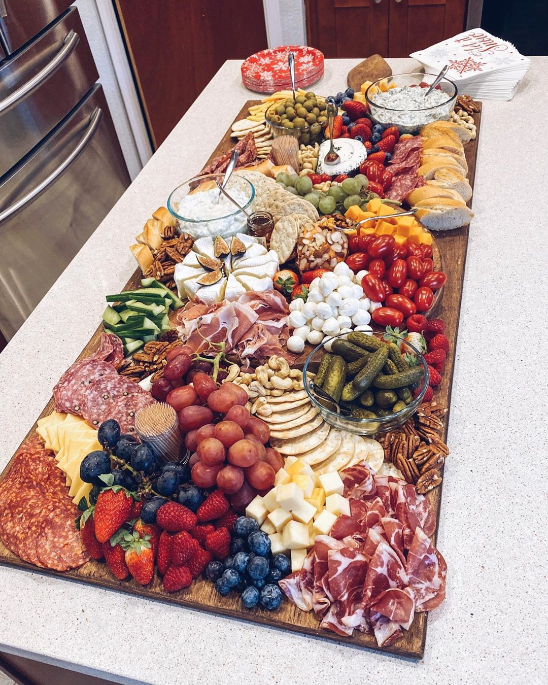 Hannah Mccarty Austin Tx On Instagram Here S The Charcuterie Board I Put Together Fo Party Trays Ideas Food Platters Party Food Platters Charcuterie Board
