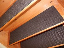 13 Step 100% Rubber Indoor Outdoor Stair Treads Non Slip Staircase Choice  Size