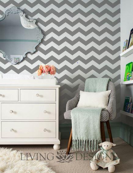 Plantilla decorativa para el dise o de interiores y pintar for Papel pared diseno