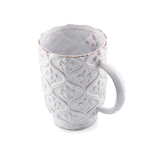 mud pie ceramic fleur