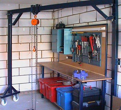 Engine hoist garage pinterest container house plans for Shop hoist plans