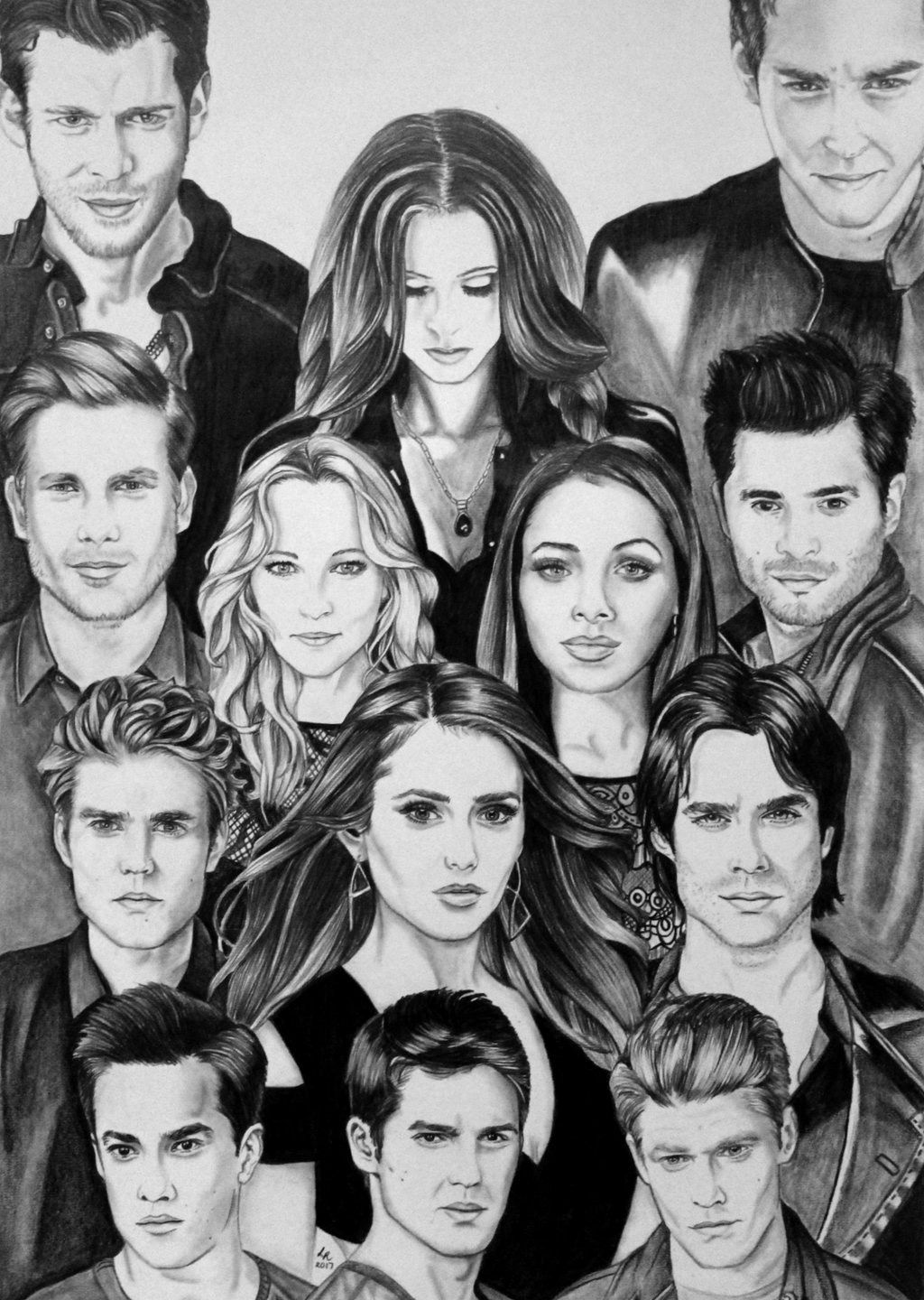 My The Vampire Diaries Drawing The Vampire Diaries And