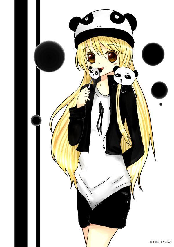 Panda Girl Kawaii Panda Cute Panda Cute Girl Drawing