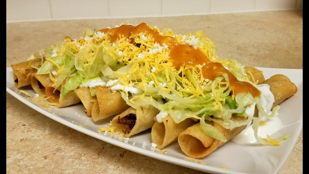 How to make rolled tacos taquitos flautas recipe