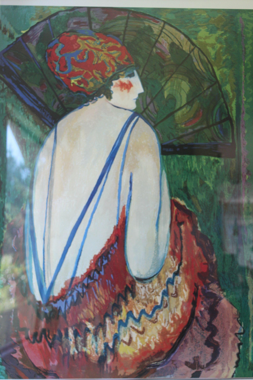 Barbara a wood lithograph serigraph print art portrait