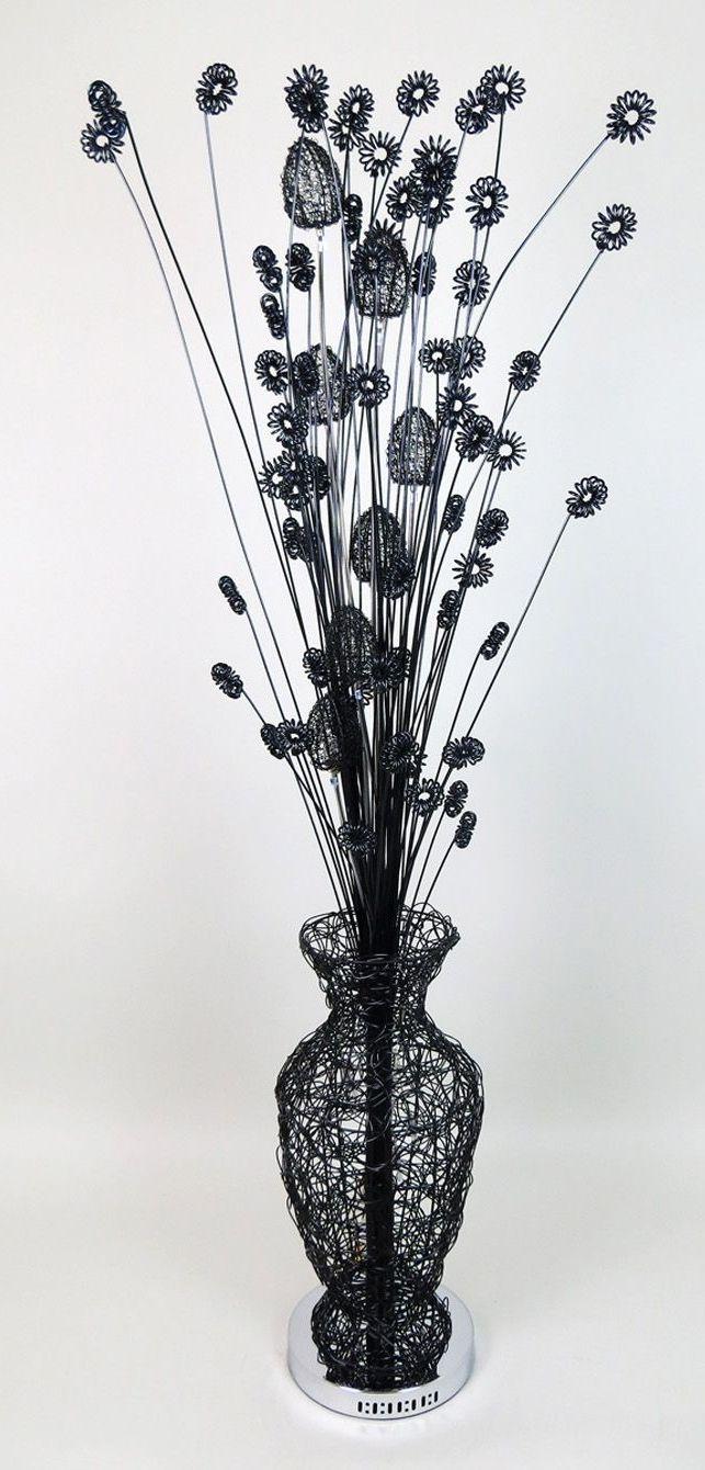 Woven Wire Metal Flower Vase Lamp Large | Vase | Pinterest | Flower ...