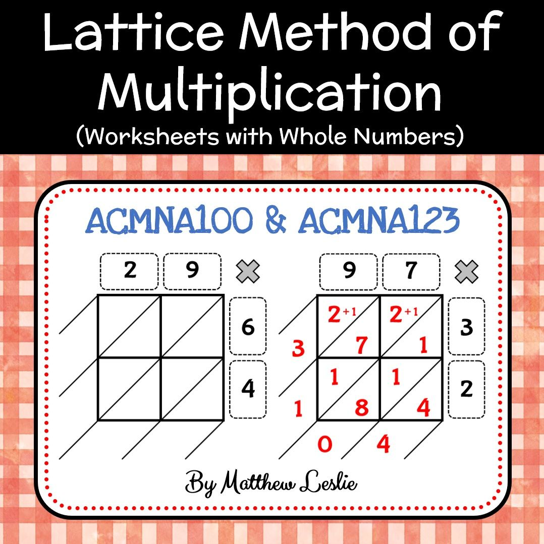 Lattice Method Of Multiplication Worksheets With Whole