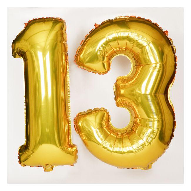 Grand ballon d 39 anniversaire chiffre dor 18th for Chiffre treize