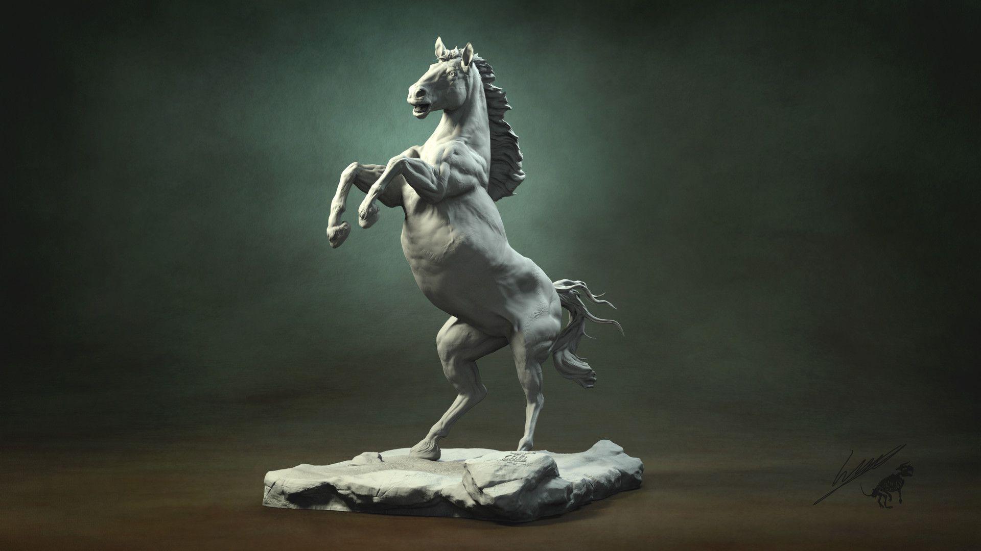 ArtStation - Horse anatomy study, Gael Kerchenbaum   Horses   Pinterest