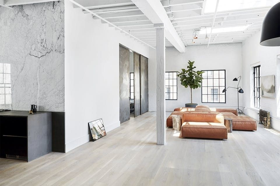 Gravity Home NY loft living room