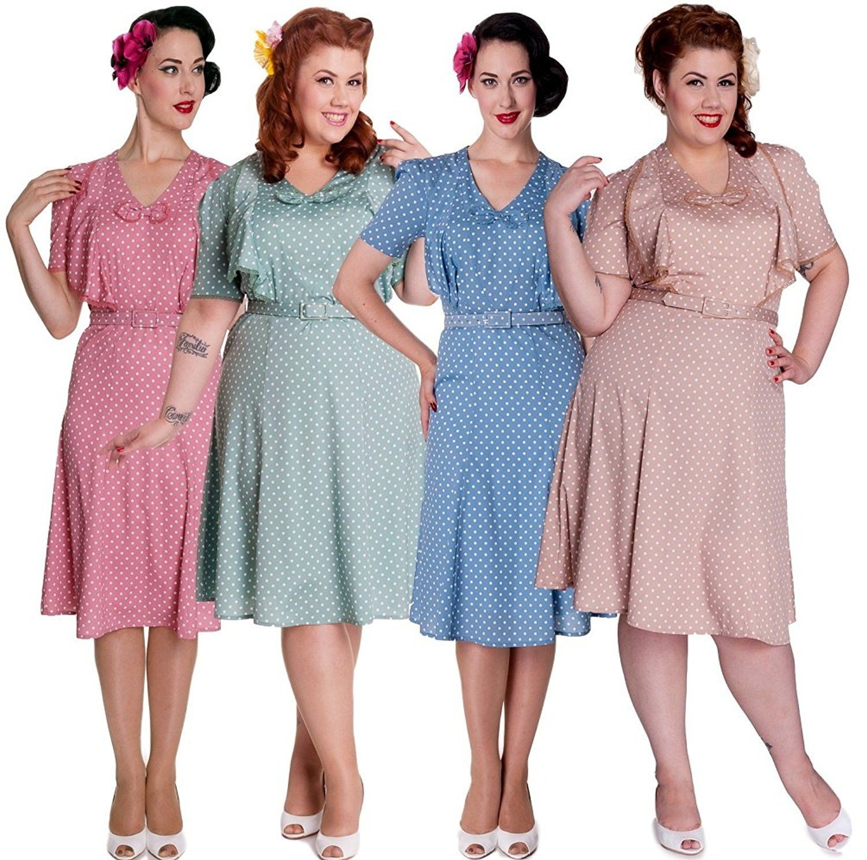 1940s Style Dresses, Fashion & Clothing | Vintage tea party dresses ...
