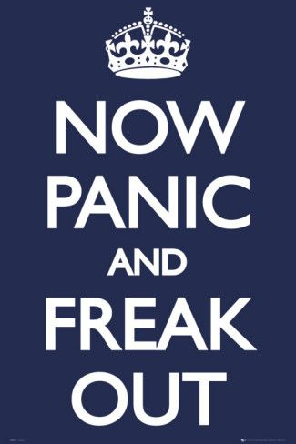 Now Panic and Freak Out Poster - AllPosters.at