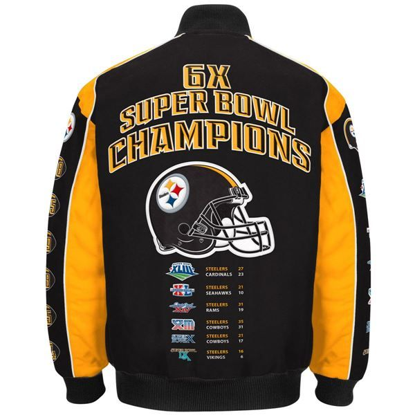 66fc2abab Picture of Pittsburgh Steelers GIII Premiere Commemorative Medium Weight  Jacket - Extended Sizes