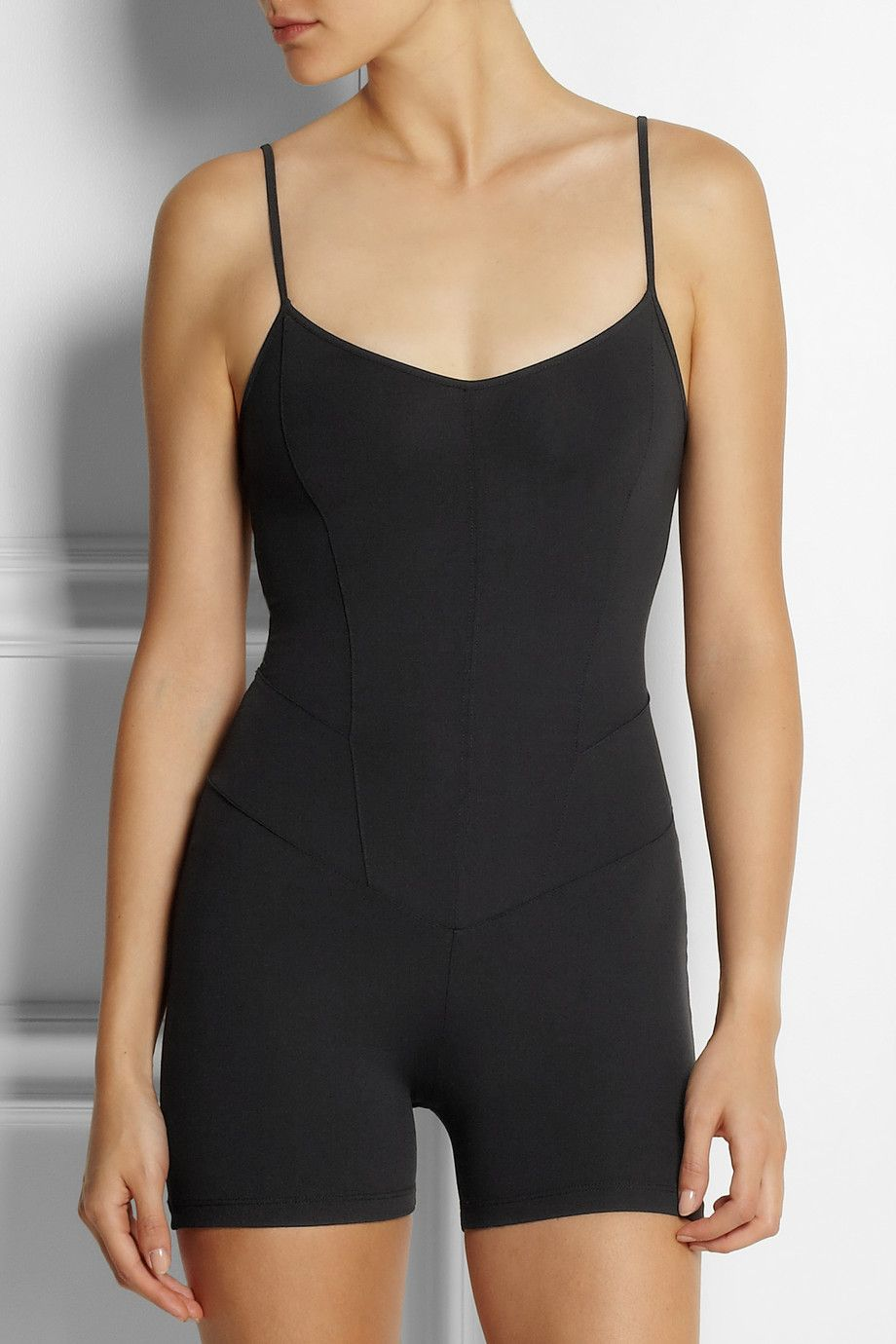 Collections Online Clearance Choice Ribbed Stretch-knit Leotard - Black Live The Process vK0QioAtd