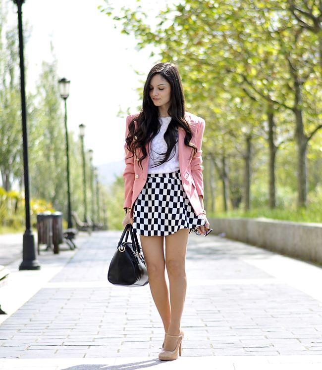 Chessboard skirt