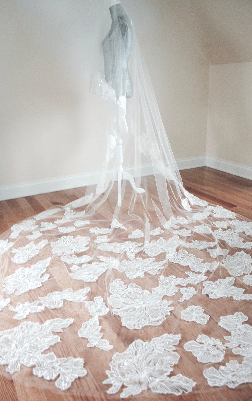 Drop Wedding Veil Blusher Veil Cathedral Wedding Veil