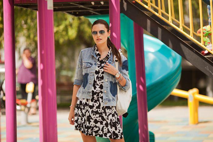 viktoriya+sener+wearing+zaful+panda+dress+denim+jacket+tomtop+panda+backpack+rayban+sunglasses+strasivarius+white+brogues+soufeel+bracelet+triwa+blue+watch+%288%29.jpg (700×467)